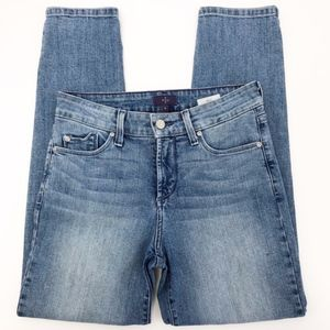 nydj | lift tuck ankle skinny hi-rise jeans sz 4